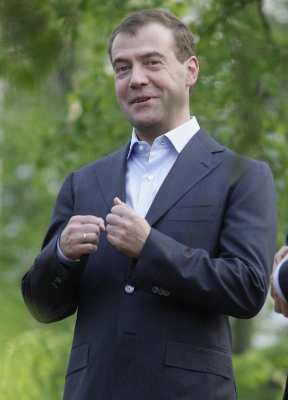 Russian President Dmitry Medvedev, shown May 21, 2009.(UPI Photo/Anatoli Zhdanov)
