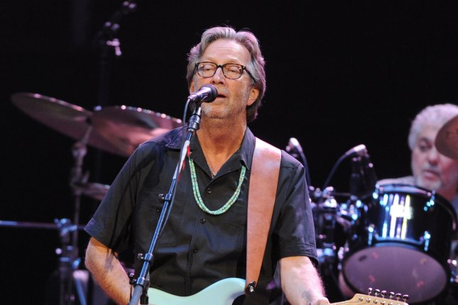 Eric Clapton is teaming up with Van Morrison for a new song called Stand and Deliver. File Photo by Rune Hellestad/UPI