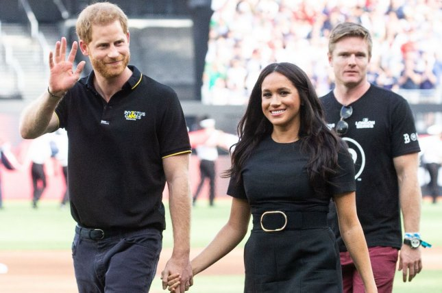 The Christmas card of the Duke and Duchess of Sussex -- Prince Harry (L) and Meghan Markle -- shows a glimpse of their new lives in California. File Photo by Mark Thomas/UPI
