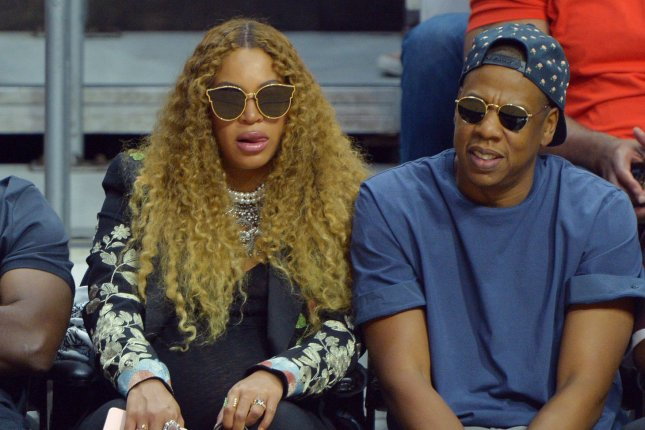 4228087019a0 Beyonce and Jay-Z sit court side as they attend Game 7 of the best-of-seven  first round playoffs between the Los Angeles Clippers and the Utah Jazz in  2017 ...