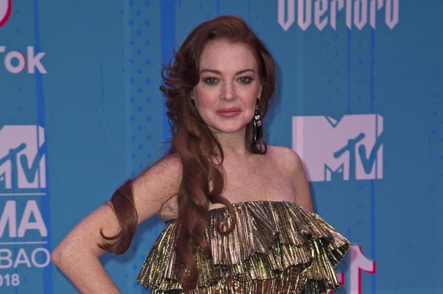 Lindsay Lohan credited Oprah Winfrey with giving her a different perspective after her jail time. File Photo by Sven Hoogerhuis/UPI
