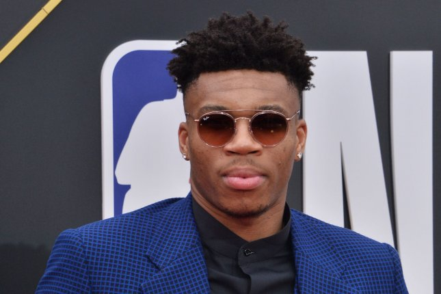 Milwaukee Bucks forward Giannis Antetokounmpo won the 2018-2019 NBA MVP award after averaging a career-best 27.7 points, 12.5 rebounds and 5.9 assists this season. Photo by Jim Ruymen/UPI