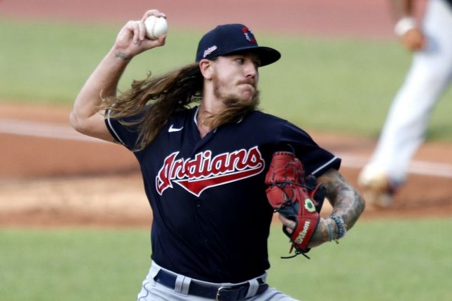 Cleveland Indians pitcher Mike Clevinger surrendered three home runs during an intrasquad start Wednesday at Progressive Field in Cleveland. Photo by Aaron Josefczyk/UPI