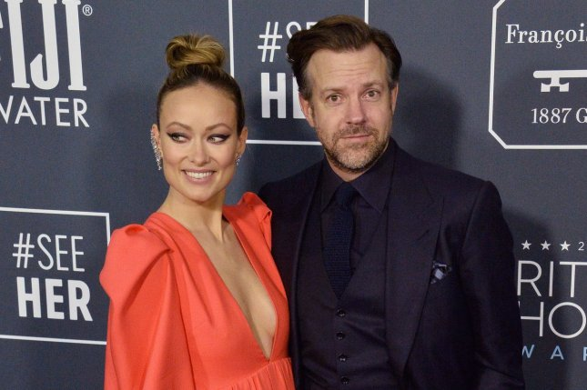 Jason Sudeikis (R) addressed his split from his ex-fiancée, Olivia Wilde, in the August issue of GQ. FilePhoto by Jim Ruymen/UPI