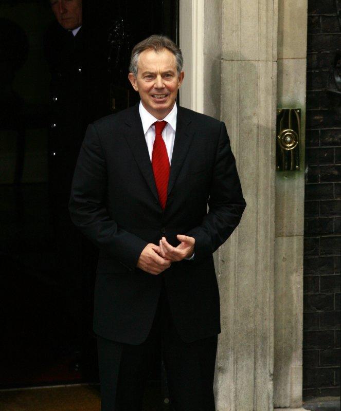 Former British Prime Minister Tony Blair (UPI Photo/Hugo Philpott)