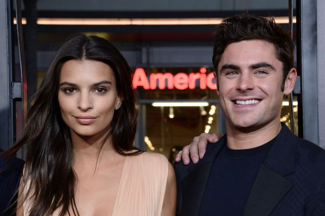 Zac Efron (R) and Emily Ratajkowski at the Los Angeles premiere of 'We Are Your Friends' on August 20. Photo by Jim Ruymen/UPI