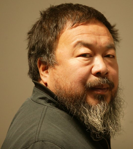 Ai Weiwei in his Beijing studio on April 25, 2009. Photo by Stephen Shaver/UPI