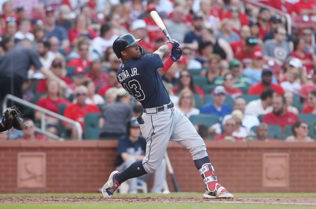 Atlanta Braves outfielder Ronald Acuna Jr. is hitting .291 with 11 home runs and 31 RBIs in 47 games this season. File Photo by Bill Greenblatt/UPI