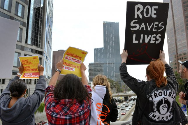 A federal judge blocked a Georgia law that would ban abortions after a fetal heartbeat can be heard from taking effect on Jan. 1 2020. File Photo by Chris Chew/UPI