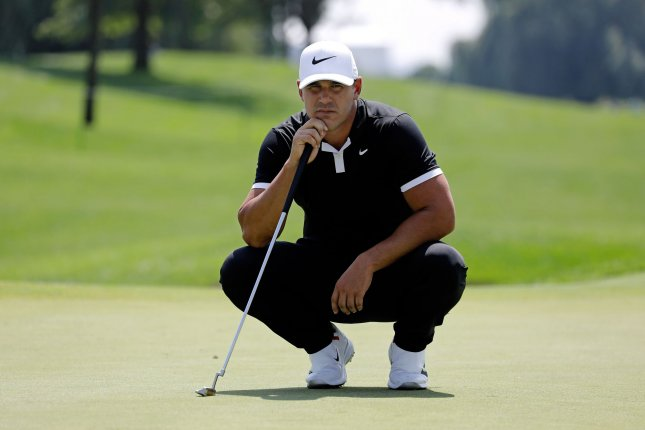Brooks Koepka was replaced by Rickie Fowler on the 12-man team. File Photo by Peter Foley/UPI