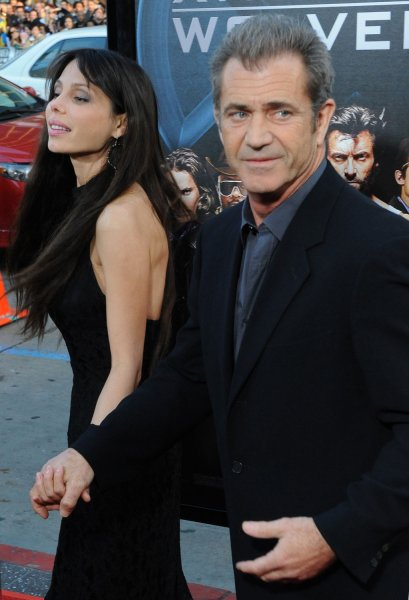 Actor Mel Gibson and actress Oksana Grigorieva arrive at an industry screening of the motion picture sci-fi thriller X-Men Origins: Wolverine, at Grauman's Chinese Theatre in the Hollywood section of Los Angeles on April 28, 2009. (UPI Photo/Jim Ruymen)