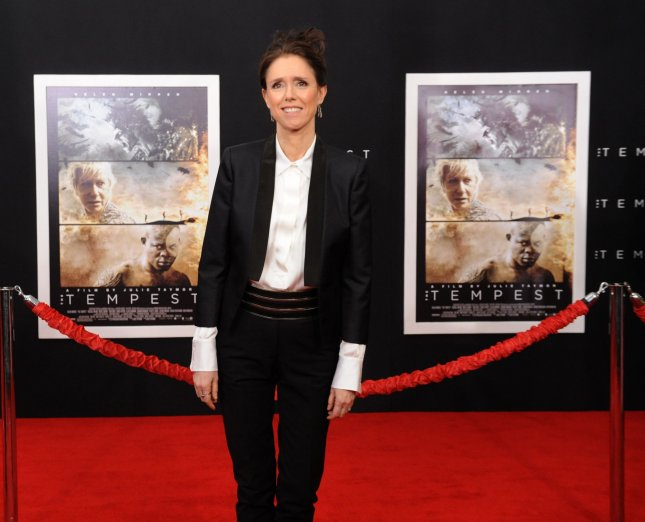 Director/writer/producer Julie Taymor attends the premiere of the motion picture fantasy The Tempest, at the El Capitan Theatre in Los Angeles on December 6, 2010. UPI/Jim Ruymen
