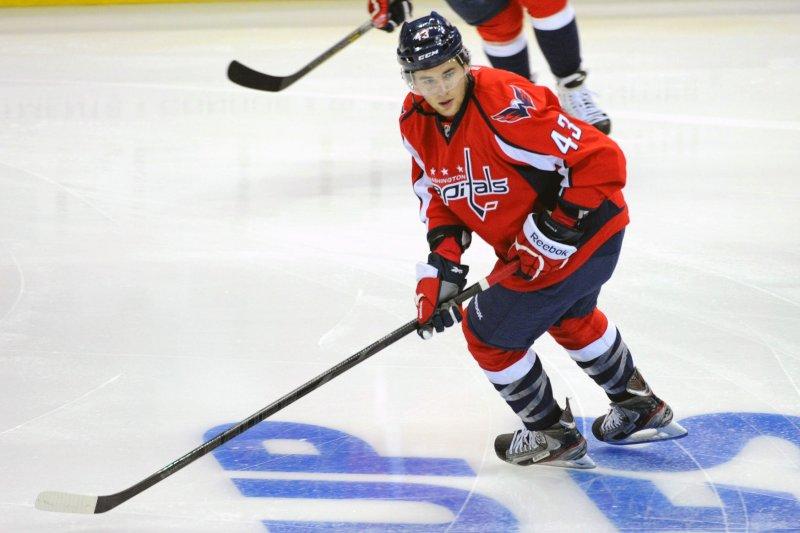 sports shoes cd733 42660 Capitals Wilson delivers huge hit to Islanders Visnovsky ...