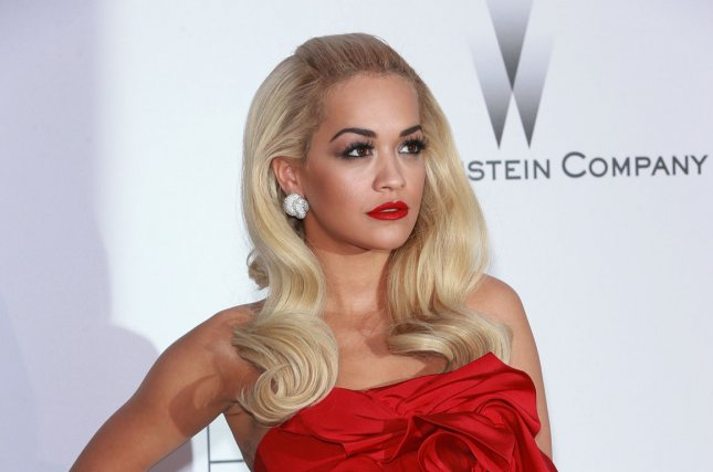 Rita Ora at the 22nd amfAR Cinema Against AIDS gala on May 21, 2015. The singer recently shared her love for new collaborator Chris Brown. File photo by David Silpa/UPI