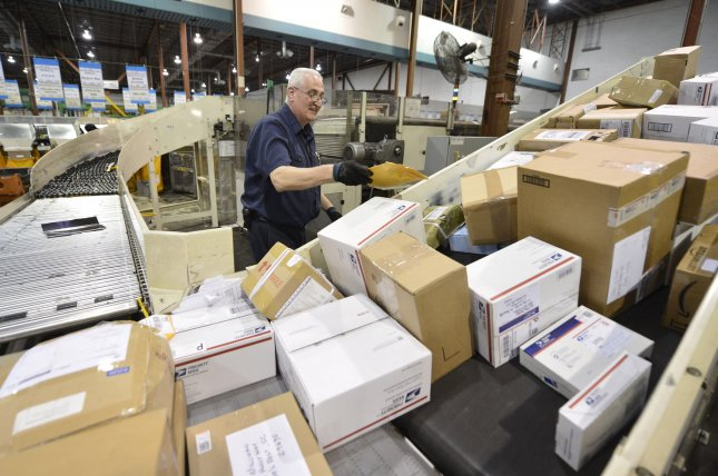 President Donald Trump on Thursday ordered a task force to evaluate U.S. Postal Service operations and finances. File Photo by Brian Kersey/UPI