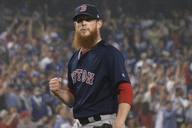 Former Boston Red Sox reliever Craig Kimbrel remains on the free agent market, and a few teams remain interested in him after a season in which he helped Boston win a World Series title. File Photo by Jim Ruymen/UPI