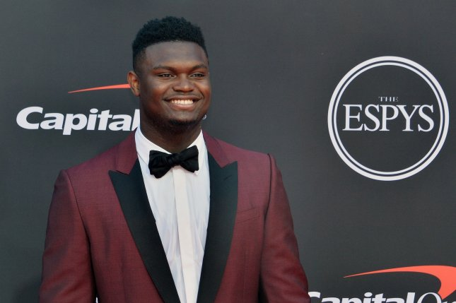 New Orleans Pelicans rookie Zion Williamson had arthroscopic surgery on his right knee to repair a torn meniscus. File Photo by Jim Ruymen/UPI