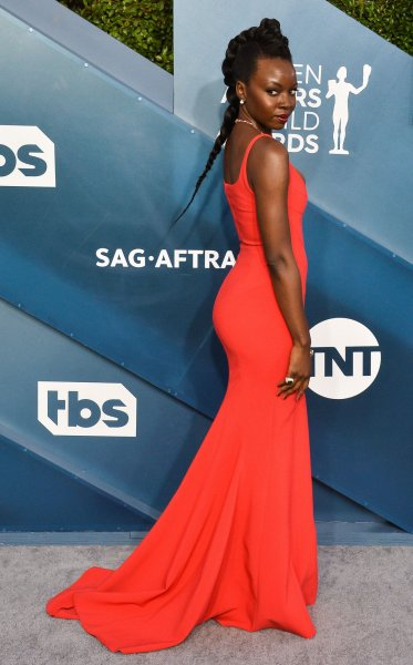 Danai Gurira arrives for the 26th annual SAG Awards held at the Shrine Auditorium in Los Angeles on January 19, 2020. The actor turns 43 on February 14. File Photo by Jim Ruymen/UPI