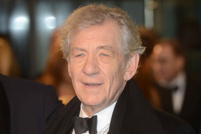 English actor Sir Ian McKellen attends The UK premiere of The Hobbit: An Unexpected Journey at The Odeon Leicester Square and Empire Leicester Square, in London on December 12, 2012. UPI/Paul Treadway
