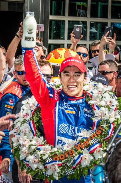 Takuma Sato claims $2.45 million for Indianapolis 500 win