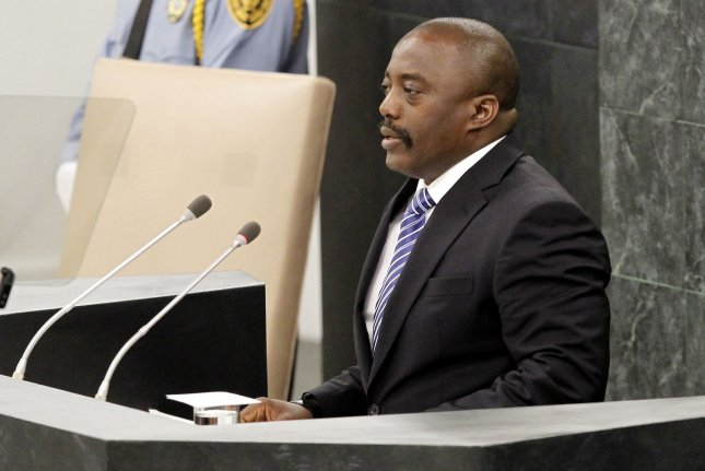 Joseph Kabila, president of the Democratic Republic of the Congo, addresses the United Nations in 2013. He is stepping down in January after current elections. Photo by John Angelillo/UPI