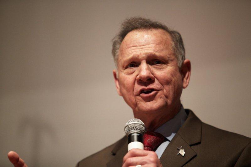 Republican Roy Moore said he's challenging Sen. Doug Jones, a Democrat. File Photo by Cameron Carnes/UPI
