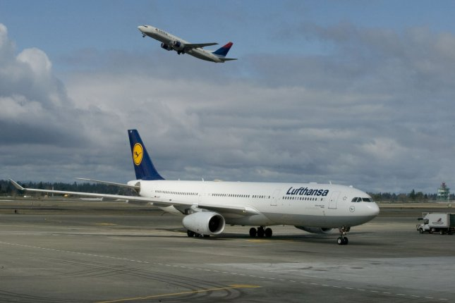 Germany-based Lufthansa is one of several international carriers that said it will go around Iranian airspace following a missile attack on U.S. bases in Iraq Wednesday. File Photo by Jim Bryant/UPI