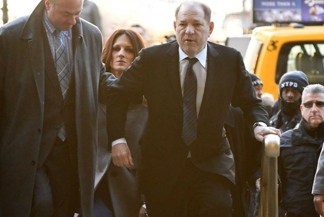 Former film producer Harvey Weinstein arrives at Manhattan Supreme Court on January 22 with his attorney Donna Rotunno to face trial on sexual misconduct charges. Photo by Louis Lanzano/UPI