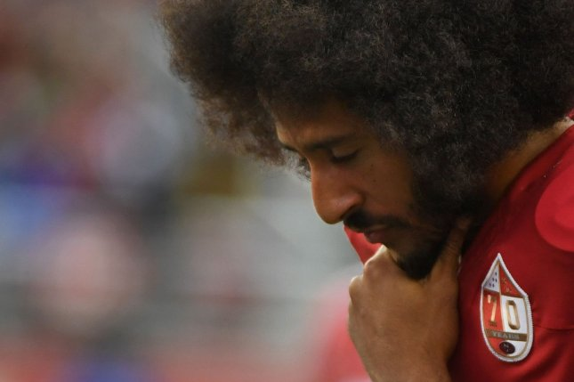 Former San Francisco 49ers quarterback Colin Kaepernick hasn't played a snap in the NFL since 2017. File Photo by Terry Schmitt/UPI