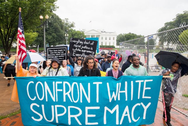 The majority of hate groups in the United States believe in some form of white supremacy, the Southern Poverty Law Center said. File Photo by Erin Schaff/UPI