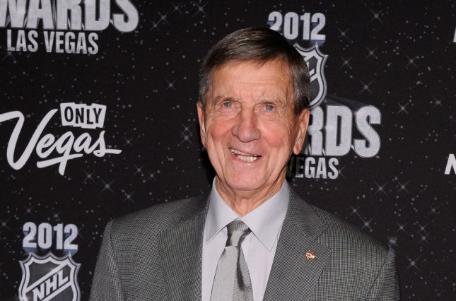 Former Detroit Red Wings star Ted Lindsay (shown in 2012) played 17 seasons, including 14 years with the Red Wings and three years with the Chicago Black Hawks. File Photo by David Becker/UPI