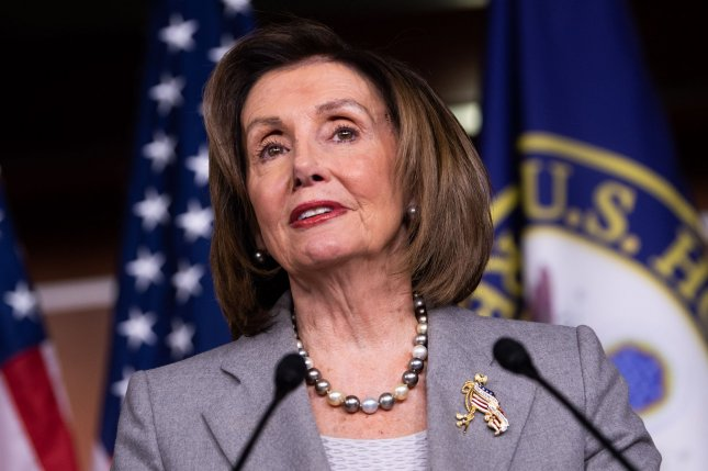 House Democrats, including Speaker Nancy Pelosi, gave unanimous support to the legislation to lower prescription drug costs. Photo by Kevin Dietsch/UPI