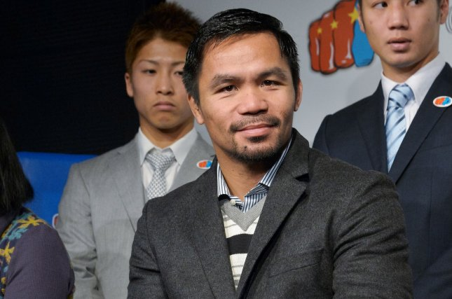 Manny Pacquiao, multi-division boxing champion and senator, officially announced his bid to run for president of the Philippines on Sunday. File Photo by Keizo Mori/UPI