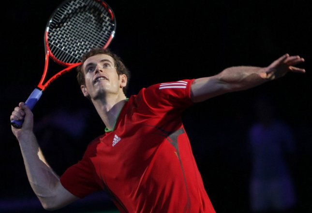 Andy Murray, shown in a match last November, picked up a second-round win Tuesday at the Monte Carlo Rolex Masters tennis tournament. UPI/David Silpa