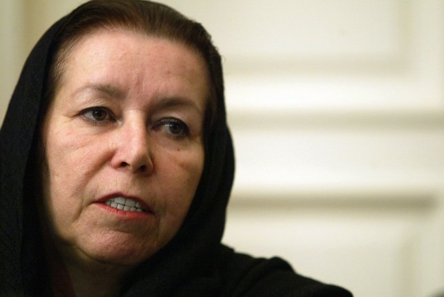 Christine Levinson, wife of ex-FBI agent Robert Levinson who disappeared in Iran in March 2007, speaks to the media during a press conference at the Swiss embassy in Tehran, Iran on December 22, 2007. Robert Levinson went missing while on a business trip to Iran's southern island of Kish and the Iranian government claims they have no information on his whereabouts. (UPI Photo/Mohammad Kheirkhah)
