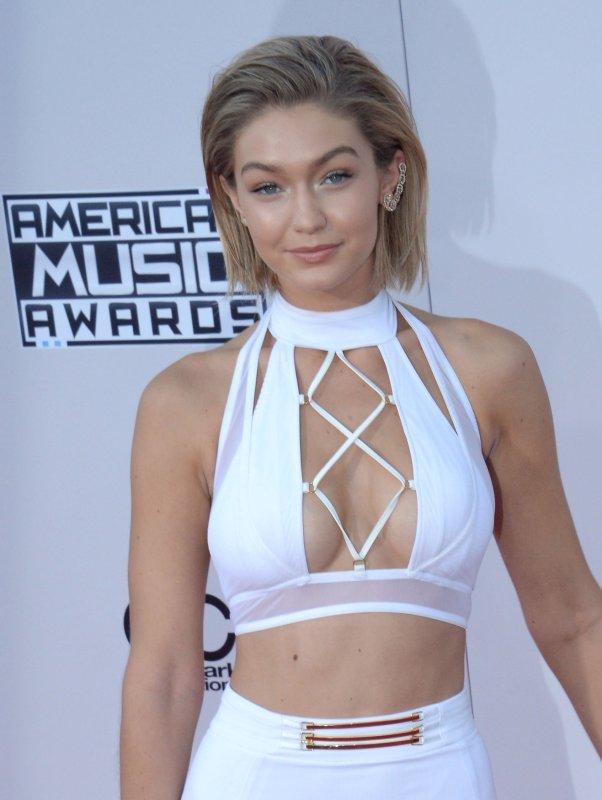 Gigi Hadid at the American Music Awards on Nov. 22. Photo by Jim Ruymen/UPI