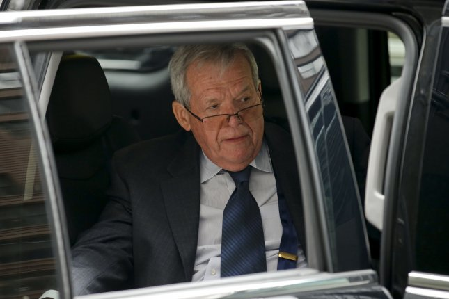 Former U.S. House Speaker Dennis Hastert leaves federal court after his sentencing hearing in Chicago on April 27, 2016. His attorneys told both Chicago newspapers he would not appeal the 15-month sentence. Photo by Kamil Krzaczynski/UPI