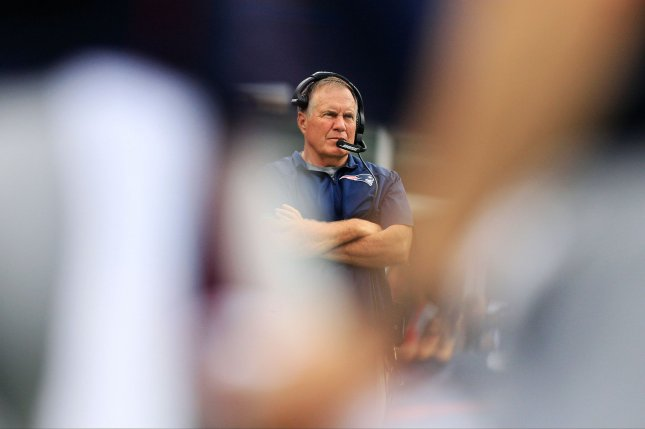 New England Patriots head coach Bill Belichick is not a doctor, OK? Photo by Matthew Healey/ UPI