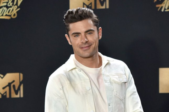 Zac Efron attends the MTV Movie & TV Awards at the Shrine Auditorium in Los Angeles on May 7. The actor turns 31 on October 18. File Photo by Christine Chew/UPI