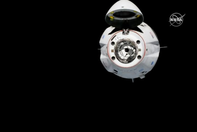 SpaceX's Crew Dragon spacecraft is pictured on approach to the International Space Station on March 3, 2019, in this photograph taken from NASA TV. Photo courtesy of NASA