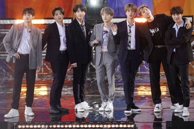BTS performed their hit song Butter on The Tonight Show Starring Jimmy Fallon. File Photo by John Angelillo/UPI