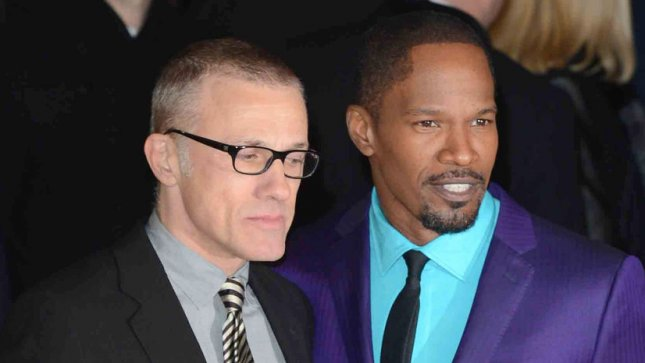 Austrian actor Christoph Waltz and American actor Jamie Fox attend The UK premiere of Django Unchained at The Empire Leicester Square, in London on January 10, 2013. UPI/Paul Treadway