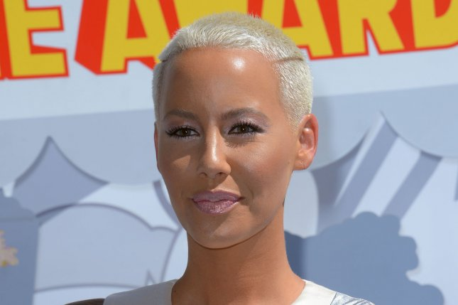 Amber Rose at the 2015 MTV Movie Awards in April. The model recently said she considers herself a 'feminist monster.' File photo by Jim Ruymen/UPI