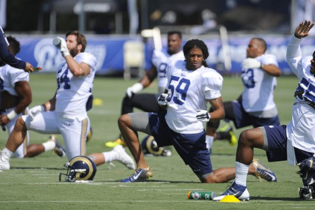 Off-season workouts can officially begin for teams with new head coaches like the LA Rams. File photo by Lori Shepler/UPI