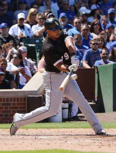 Jose Abreu and the Chicago White Six walloped the San Francisco Giants on Saturday. Photo by Aaron Josefczyk/UPI