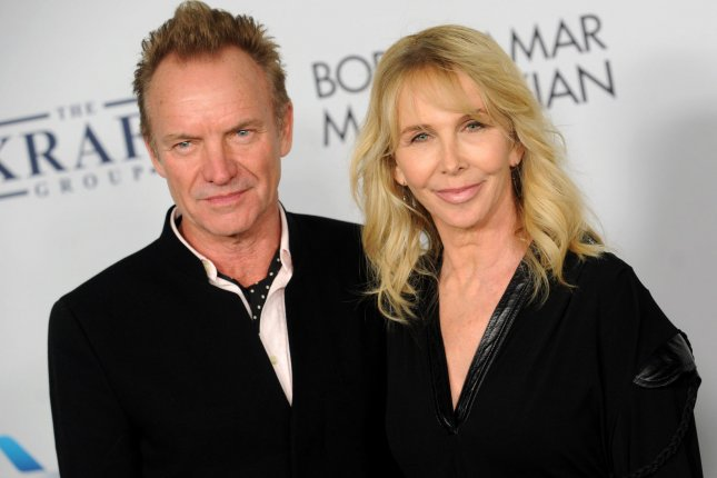 Sting (L) pictured here with his wife Trudie Styler (R), has released a new song with Shaggy tilted Don't Make Me Wait. File Photo by Dennis Van Tine/UPI