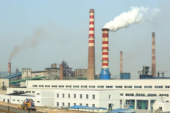 Carbon capture is a process by which carbon dioxide is sequestered from emission sources such as power plants or directly from the atmosphere and then stored or reused. FilePhoto by Stephen Shaver/UPI