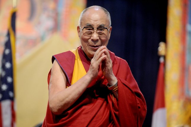 The Dalai Lama told a BBC interviewer this week that any woman who might replace him would have to be attractive. The Dalai Lama said he was serious when asked for clarification by the interviewer. Photo by Dennis Van Tine/UPI