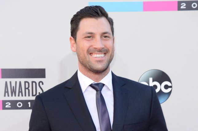 Maksim Chmerkovskiy at the American Music Awards on November 24, 2013. File Photo by Phil McCarten/UPI