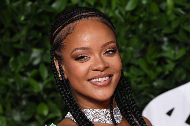 Rihanna celebrated the 15th anniversary of her first single. File Photo by Rune Hellestad/UPI